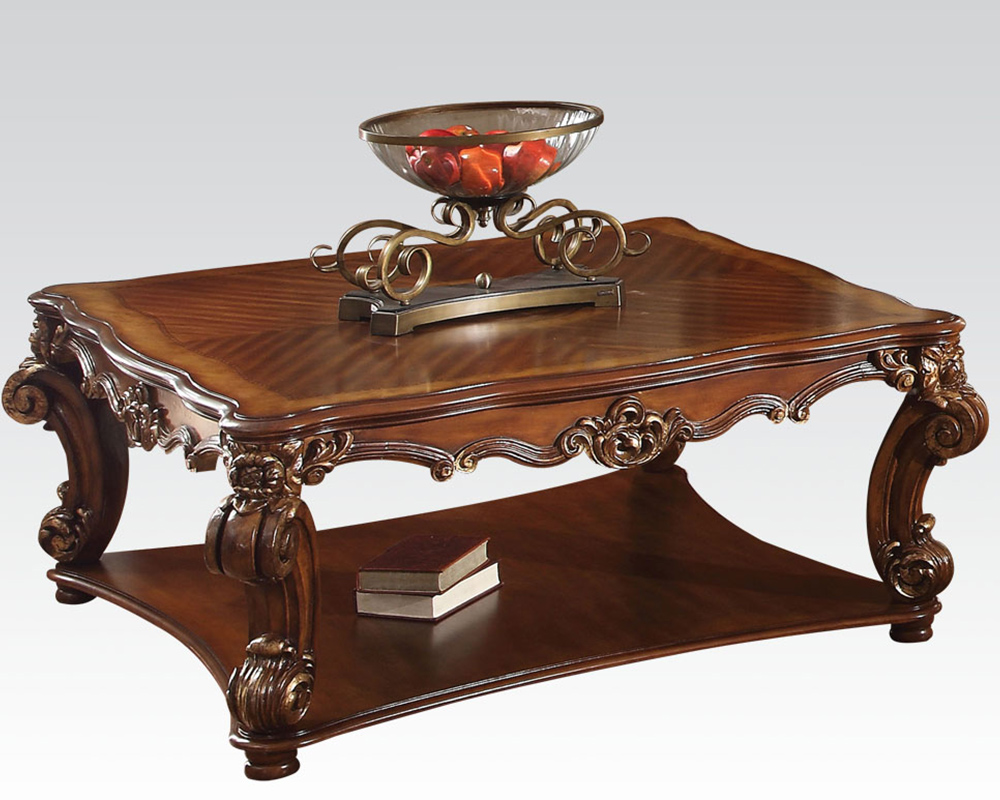Traditional Square Coffee Table Vendome Cherry By Acme Ac82002 - Traditional Coffee Tables CoffeTable