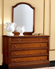 Traditional Style Dresser and Mirror Classic Made in Italy 33B494
