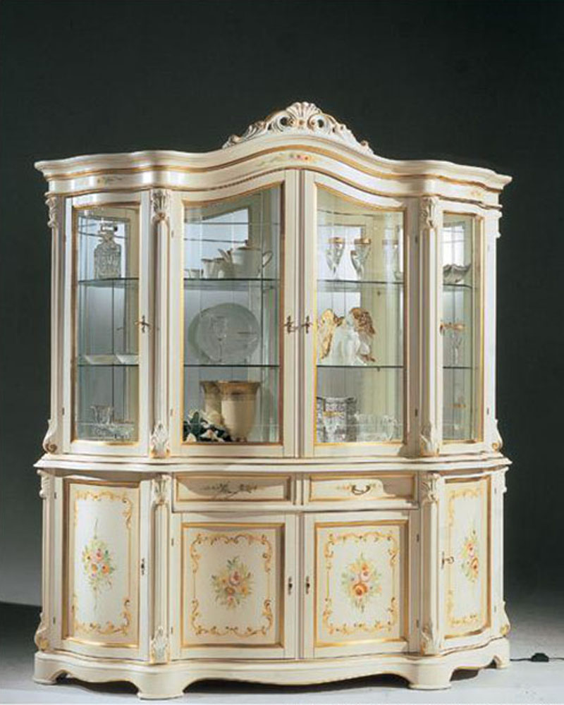 Traditional Style Four Door China Cabinet 44drgn Din Cc4