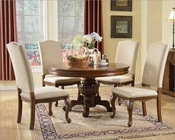 Traditional Style Set w/ Round Dining Table MCFD3000-R