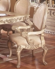 *Traditional Upholstered Arm Chair in White MCFRD0018-CA (Set of 2)