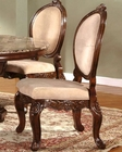 Traditional Upholstered Side Chair in Cherry MCFRD0017-CS (Set of 2)
