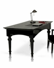 Transitional Black Crocodile Lacquer Office Desk 44F701-180