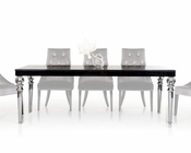 Transitional Black Crocodile Lacquer Table 44D838-221-BLK