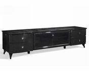 Transitional Black Crocodile Lacquer TV Cabinet 44ENT551-220