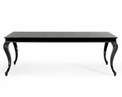 Transitional Black Crocodile Table w/ Black Gloss Legs 44D830-220-BLK
