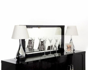 Transitional Mirror in Black Crocodile Lacquer 44D408-150-BLK