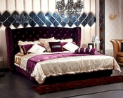 Transitional Purple Fabric Bed 44B175BD