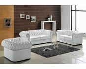 Transitional Tufted Leather Sofa Set 44L2220