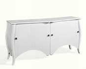 Transitional White Crocodile Lacquer Buffet 44D638-180