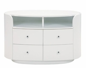 TV Console Elma in High Gloss White 35B38