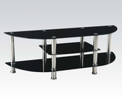 TV Console in Black Tempered Glass by Acme AC91058
