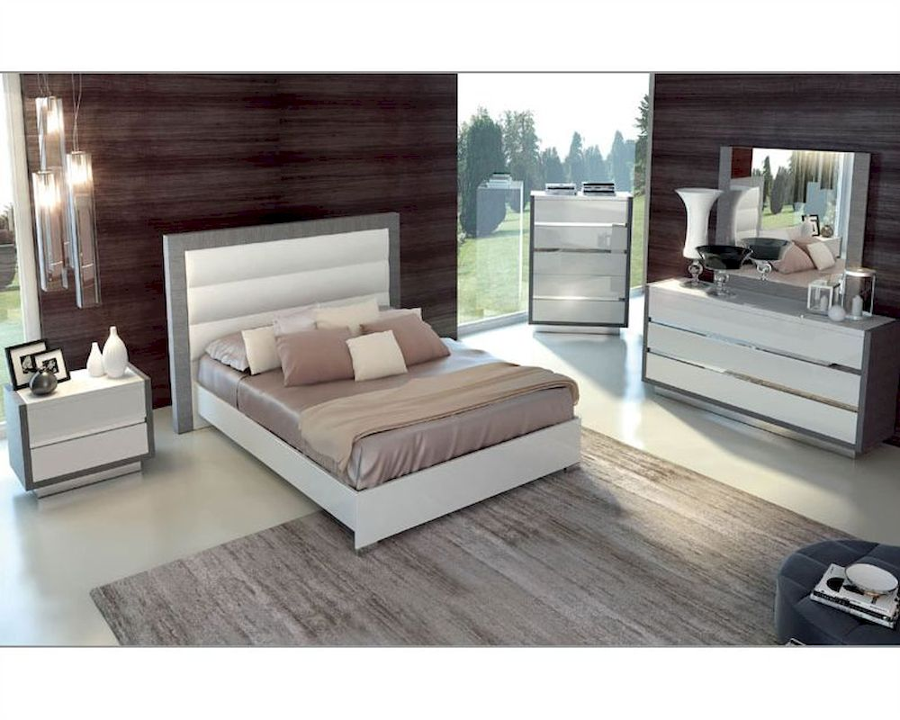 Modern Style Bedroom Sets Two Tone Bedroom Set Mangano In Modern Style 3313mn