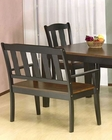 *Two Tone Dining Bench in Black and Tobacco MO-7700BE