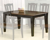 *Two Tone Dining Table in Black and Tobacco MO-7700TB