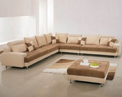 Two Tone Fabric Contemporary Sectional Sofa Set 44LG60B