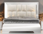 White Upholstered Bed Carmen 33140CA