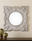 Uttermost Cautano Gray-Ivory Square Mirror UT-13921