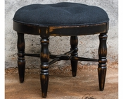 Uttermost Chione Black Small Stool UT-23625