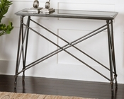 Uttermost Console Table in Black Glass Collier UT-24420