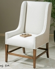 Uttermost Dalma Linen Wing Chair UT-23189