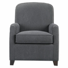 Uttermost Domicia Gray Armchair UT-23255