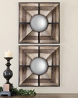 Uttermost Euthalia Square Mirrors UT-07685 (Set of 2)