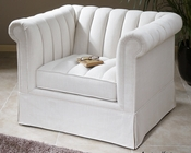 Uttermost Evania White Tufted Armchair UT-23155
