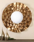 Uttermost Follonica Antiqued Gold Round Mirror UT-12915