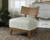 Uttermost Gaige Oak Armless Chair UT-23238