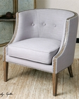 Uttermost Gamila Light Gray Accent Chair UT-23220