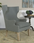 Uttermost Graycie High Back Wing Chair UT-23136