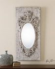 Uttermost Guardia Gray-Ivory Oval Mirror UT-13927