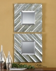Uttermost Jovan Squares Silver Mirror UT-08114 (Set of 2)