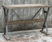 Uttermost Makoto Wooden Industrial Sofa Table UT-25656