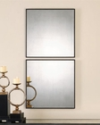 Uttermost Matty Antiqued Square Mirrors UT-13932 (Set of 2)