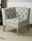 Uttermost Meliso Tufted Corner Chair UT-23167
