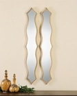 Uttermost Morvana Curved Metal Mirrors UT-12899 (Set of 2)