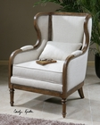 Uttermost Neylan Linen Wing Chair UT-23159