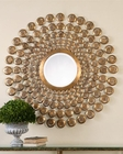 Uttermost Orbetello Antiqued Gold Round Mirror UT-12916