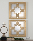 Uttermost Piazzale Gold Square Mirrors UT-13865 (Set of 2)