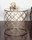 Uttermost Quatrefoil End Table UT-25016