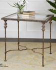Uttermost Quillon Glass End Table UT-24365