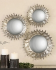 Uttermost Rain Splash Round Mirrors UT-12903 (Set of 3)