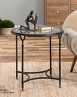 Uttermost Samson Glass Side Table UT-24469