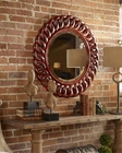 Uttermost Sassia Red Round Mirror UT-05029
