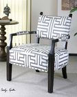 Uttermost Terica Geometric Accent Chair UT-23217