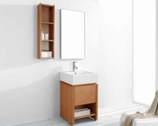 "Virtu USA 20"" Bathroom Vanity set Curtice in chestnut VU-ES-2020-C-CH"