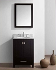 "Virtu USA 24"" Round Sink Bathroom Vanity Caroline VU-GS-50024-WMRO-ES"