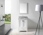 "Virtu USA 24"" Round Sink Bathroom Vanity Caroline VU-GS-50024-WMRO-WH"